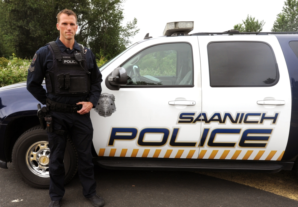 Saanich Police with vehicle