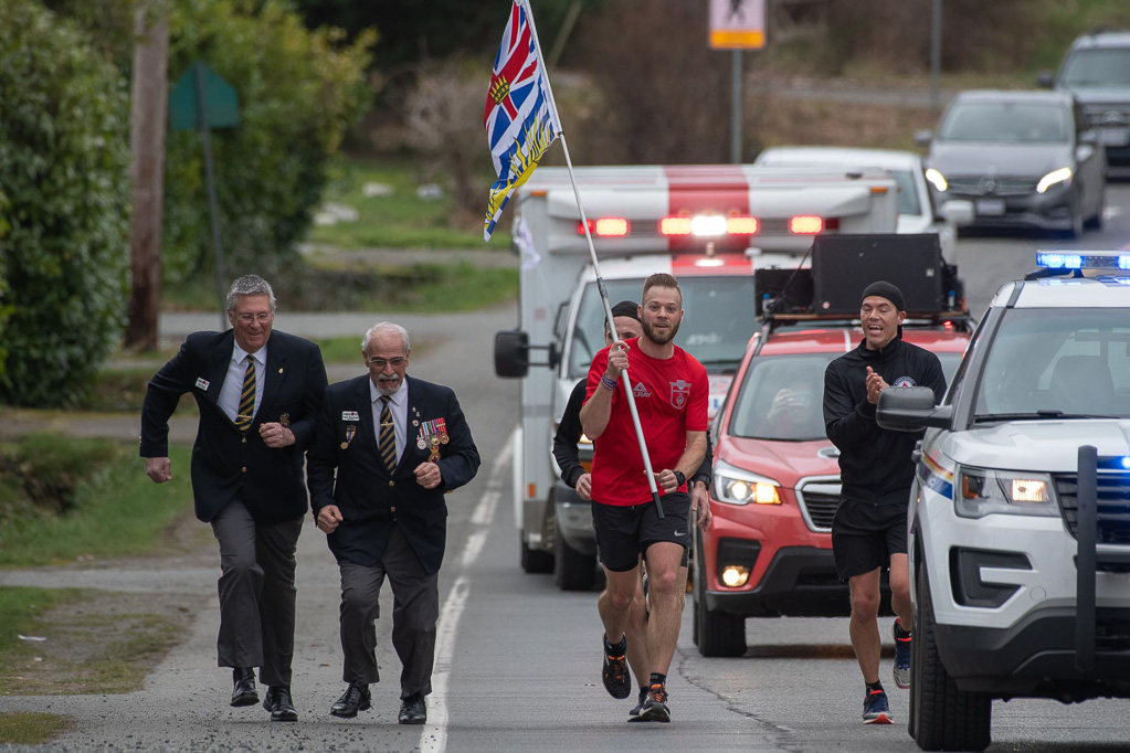 Wounded Warrior Run - Mike Bowen and Legion Members