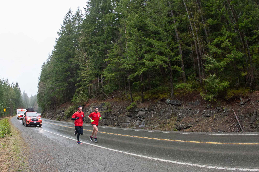 Wounded Warrior Run - on the road
